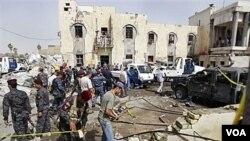 محل یک انفجار در بغداد (عکس آرشیو)