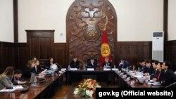 Заседание правительства КР, архивное фото.
