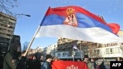 Srbi u Kosovskoj Mitrovici protestuju zbog nezavisnosti, 17. februar 2008.