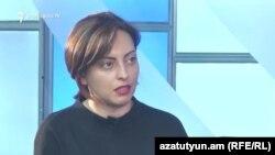 Лена Назарян в студии «Азатутюн ТВ», 6 июня 2017 г.