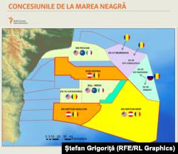 Concesiunile de petrol și gaze din Marea Neagră