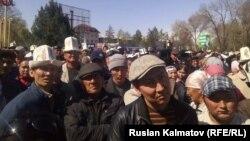 Митинг в Аксыйском районе.