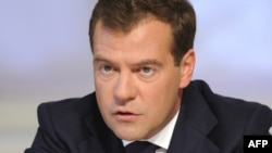President Dmitry Medvedev speaks at the Valdai discussion group in Moscow, September 15, 2009.