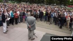 Иркутск. Ученые протестуют против реформы РАН. Фото Екатерины Вертинской
