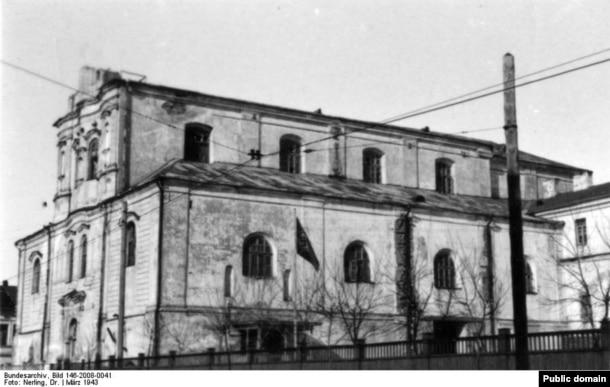 Выгляд касьцёла ў 1943 годзе