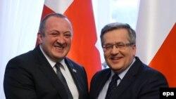 Presidenti i Gjeorgjisë dhe ai i Polonisë