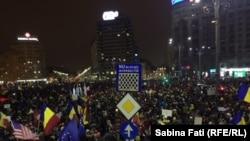 Piata Victoriei, proteste antiguvernamentale, 12 februarie 2017