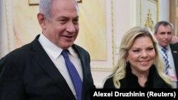 Kryeministrii i Izraelit, Benjamin Netanyahu dhe bashkëshortja Sara Netanyahu