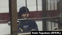 Руслан Күлекбаев сот процесі кезінде. Алматы, 17 қазан 2016 жыл.