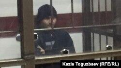 Руслан Кулекбаев, обвиняемый по делу о нападениях 18 июля в Алматы, в суде. Алматы, 17 октября 2016 года.