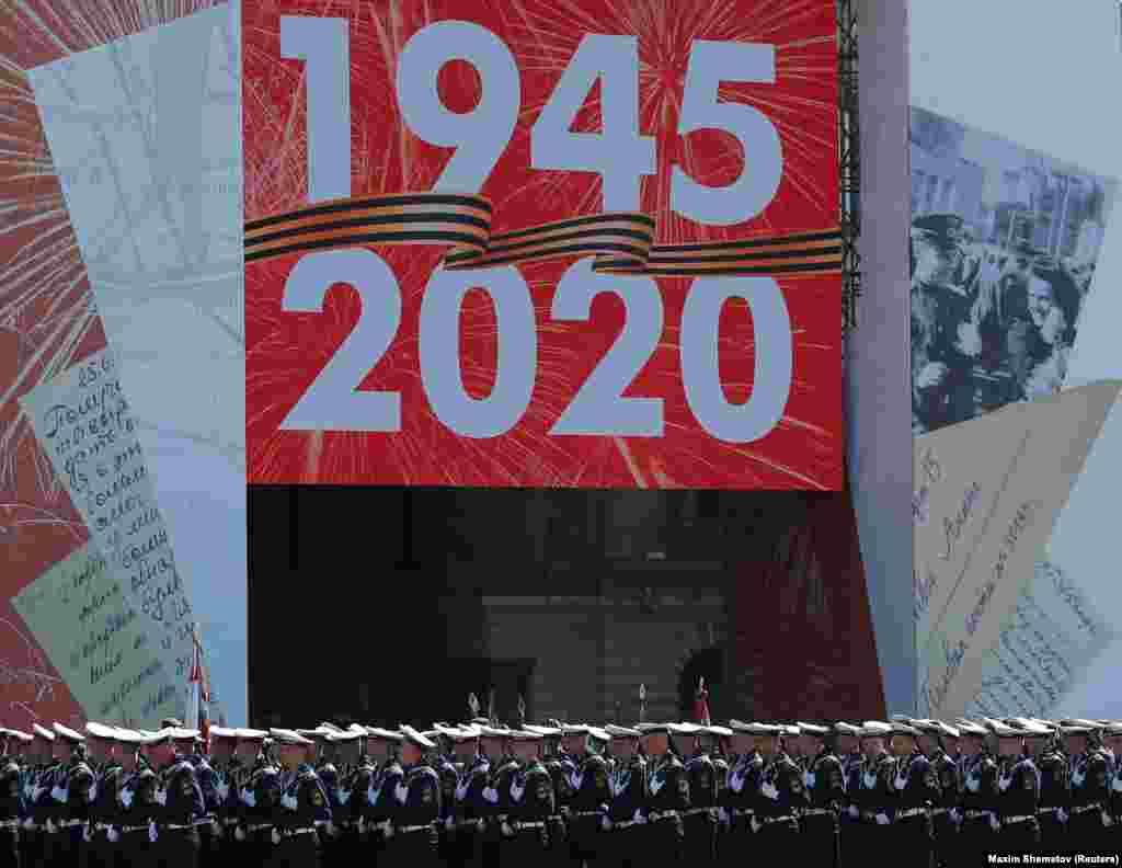 Парад відзначив поразку нацистської Німеччини у Другій світовій війні у 1945 році