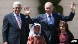 Россия Президенти Владимир Путин ва Фаластин Мухторияти Президенти Маҳмуд Аббос.