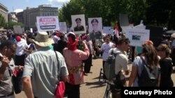 مصريون يتظاهرون أما البيت الأبيض في واشنطن