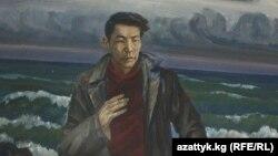 Алыкул Осмоновдун туулган айылындагы музейдеги сүрөт. Каптал-Арык айылы, Чүй.