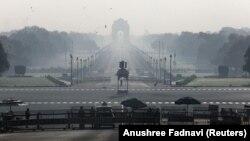 Spre palatul prezidențial de la New Delhi, India, martie 2020