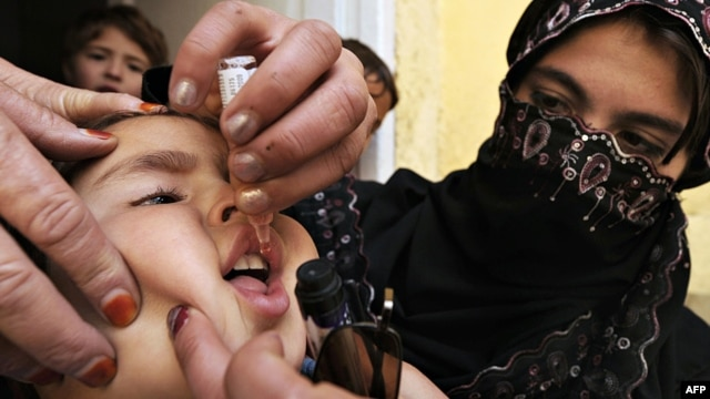 "Polio-vaccination is risky work in parts of Afghanistan and Pakistan where militants have denounced it as ""un-Islamic."""