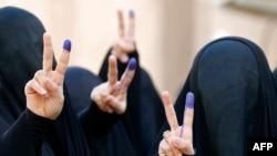 Bağdadda qadınlar səs verəndən sonra, 30 aprel