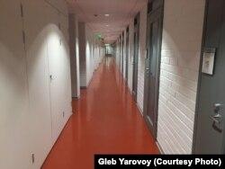 Опустевшие коридоры Университета Восточной Финляндии в Йоэнсуу