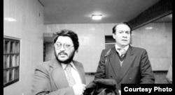 علیرضا نوریزاده در کنار صادق قطبزاده