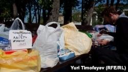 Hrana za aktiviste u šatorima