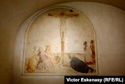 Frescă a lui Fra Angelico în celula monastică în care a fost deținut Cosimo de Medici la San Marco, Florența