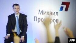 Михаил Прохоров в ходе предвыборной кампании, февраль 2012 года