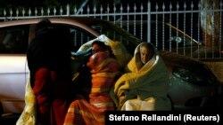 Жители итальянского города Аматриче после разрушительного землетрясения в центральной части Италии. 24 августа 2016 года.