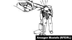 Отношения бизнеса и власти в Казахстане. Автор карикатуры - Ансаган Мустафа.