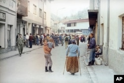 A Srebrenica street in April 1993