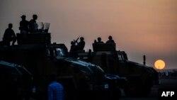 نیروهای نظامی ترکیه در مرزهای جنوبی آن کشور