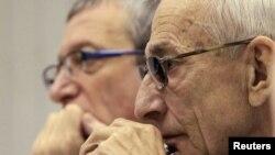 Адвокаты Михаила Ходорковского Вадим Клювгант и Юрий Шмидт
