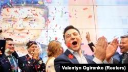 Украин президенттигине талапкер Владимир Зеленский. 21-апрель, 2019-жыл.
