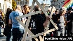 تظاهرات ضد یهودیستیزی در برلین در اکتبر ۲۰۱۹