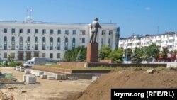Ремонт на площади Ленина, август 2021 года