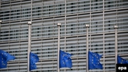 Flamujt në gjysmështizë në Bruksel.