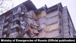 Зруйнований будинок в російському Іжевську, 9 листопада 2017 року