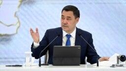Kyrgyz President Sadyr Japarov made his land-swap offer at a recent press conference.