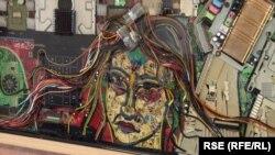 Mozaik Niša od kompjuterskih delova