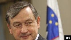 Presidenti i Sllovenisë, Danilo Turk, në Prishtinë, 21 dhjetor 2009.
