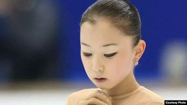 Фигуристка из Казахстана Элизабет Турсынбаева.