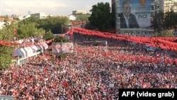 Митинг оппозиционного кандидатат в президенты Турции Мухаррема Индже. Анкара, 22 июня 2018 года.