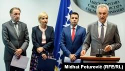 Rasim Ljajić, Dragica Nikolić, Ljupčo Nikolovski (ministar poljoprivrede Makedonije) i Mirko Šarović