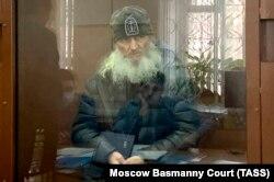 Отец Сергий (Николай Романов) в Басманном суде Москвы, 25 февраля 2021 года. Фото: ТАСС