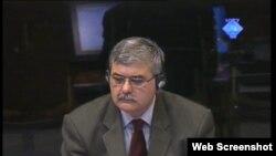 Amor Mašović tokom svjedočenja, travanj 2012.