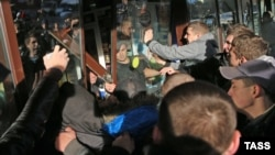 Russia -- Unrest in Biryulevo, Moscow, October 13, 2013.