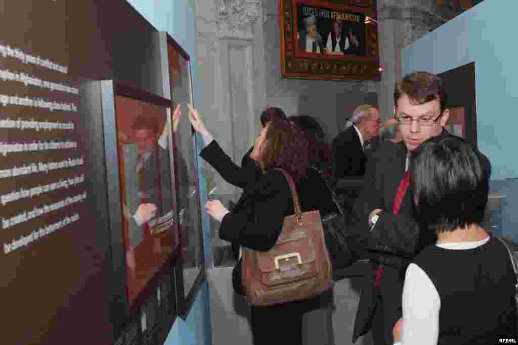 Guests take in the sights and sounds of the exhibit - (Photo by P. Alunans)