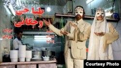 شوخی با کاراکترهای پوستر جشنواره تئاتر امسال/ منتشر شده در فضای مجازی