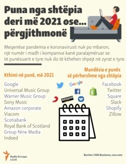 Info graphic : Working from during COVID-19 (Albanian)