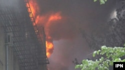 Imagini ale unui incendiu