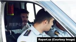 Azerbaijan. Baku. Soccer player Javid Huseynov in trial court Baku - Photo report.az